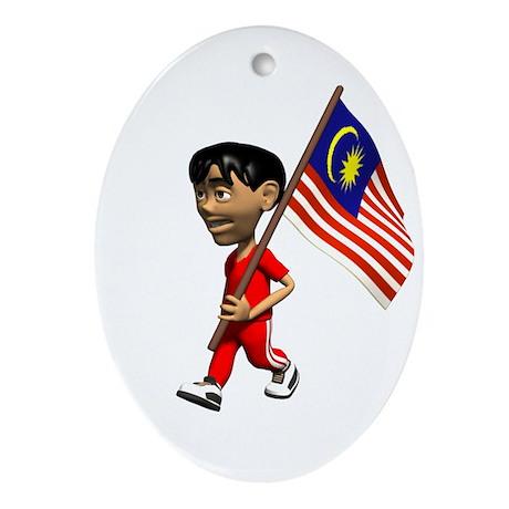 Malaysia Boy Oval Ornament