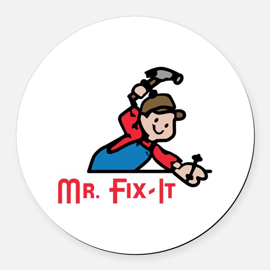 MR FIX IT Round Car Magnet