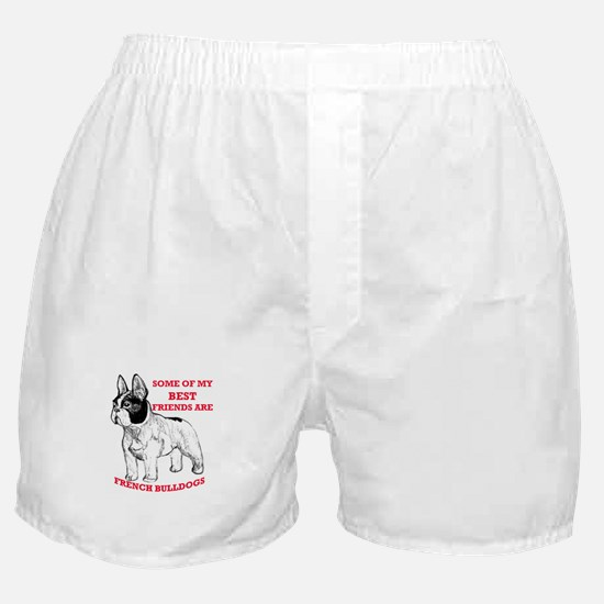 Cute French bull dogs Boxer Shorts