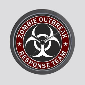 Zombie Outbreak Response Team - Red Wall Clock