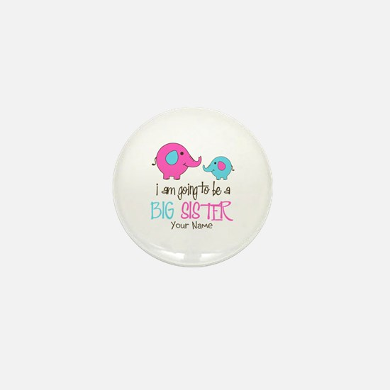 I am Going to be a Big Sister | Elepha Mini Button