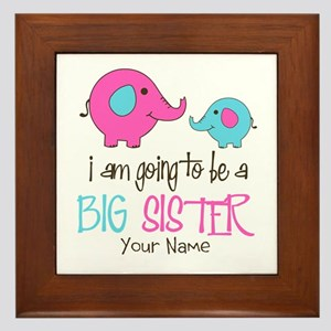I am Going to be a Big Sister | Elepha Framed Tile