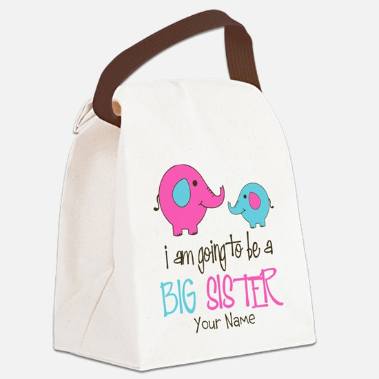 I am Going to be a Big Sister | E Canvas Lunch Bag