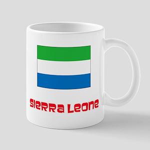 Sierra Leone Flag Retro Red Design Mugs
