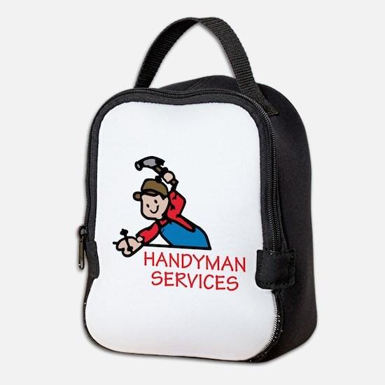 HANDYMAN SERVICES Neoprene Lunch Bag