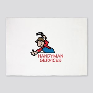 HANDYMAN SERVICES 5'x7'Area Rug