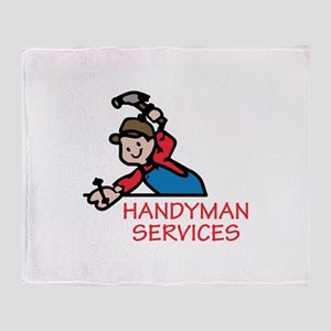 HANDYMAN SERVICES Throw Blanket