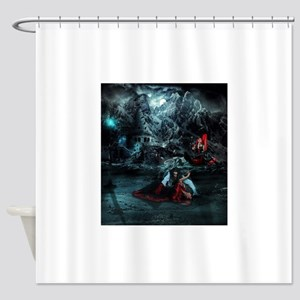 Dawn of the night Shower Curtain
