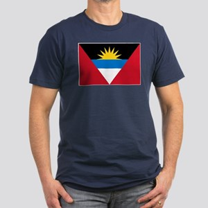 Antigua Barbuda Flag Men's Fitted T-Shirt (dark)