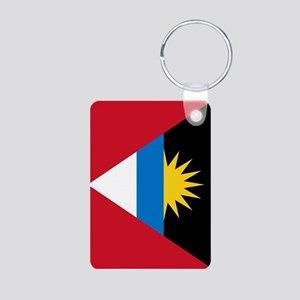 Antigua Barbuda Flag Aluminum Photo Keychain
