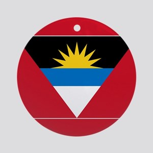 Antigua Barbuda Flag Ornament (Round)