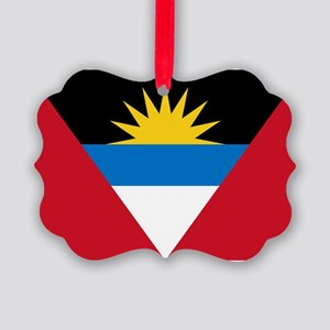 Antigua Barbuda Flag Picture Ornament