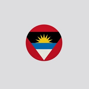 Antigua Barbuda Flag Mini Button