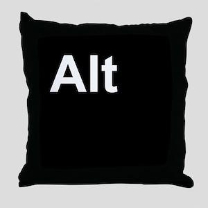 Alt Black Throw Pillow