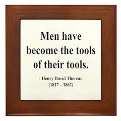 Henry David Thoreau 21 Framed Tile