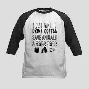 Coffee Animals Naps Baseball Jersey