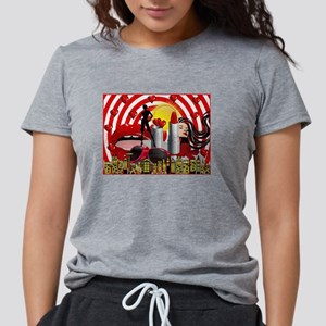 valentines day makeup red hearts lips T-Shirt