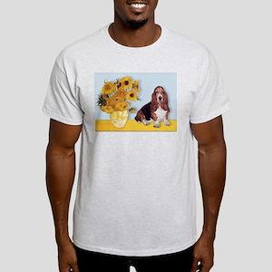 Sunflowers & Basset Light T-Shirt