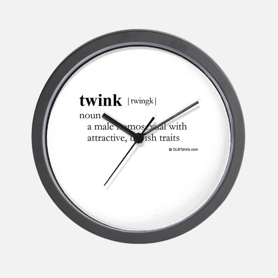 Twink definition Wall Clock
