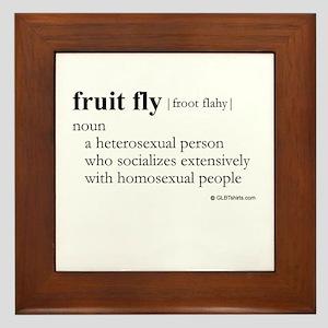 Fruit fly definition Framed Tile