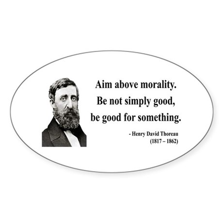 Henry David Thoreau 23 Oval Sticker
