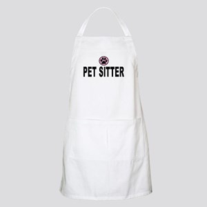 Pet Sitter Pink Circle Paw Apron