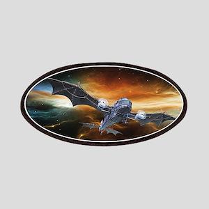 Steampunk Bat Airplane Patch