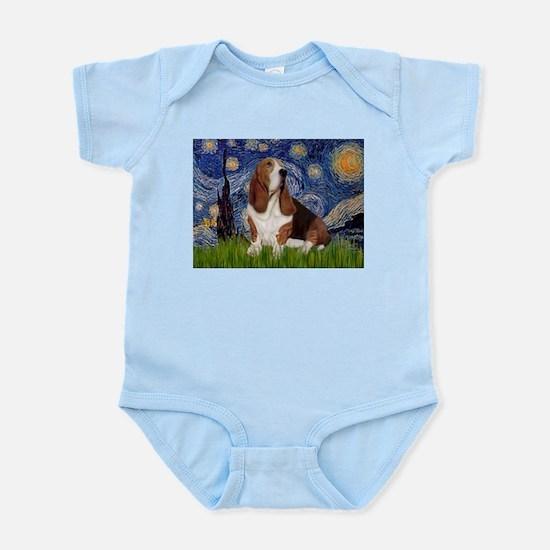 Starry Night Basset Infant Bodysuit