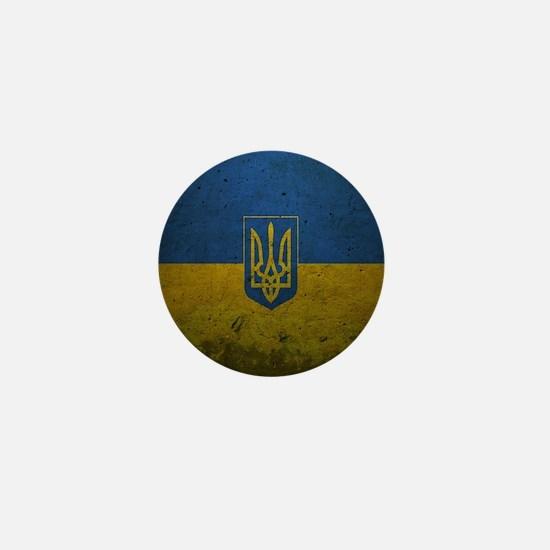 Ukrainian Flag Mini Button