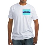 True Blue Colorado LIBERAL Fitted T-Shirt