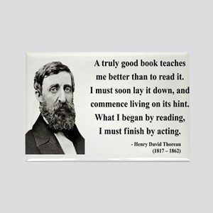 Henry David Thoreau 24 Rectangle Magnet