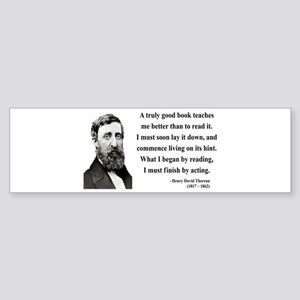 Henry David Thoreau 24 Bumper Sticker