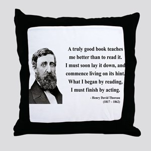 Henry David Thoreau 24 Throw Pillow