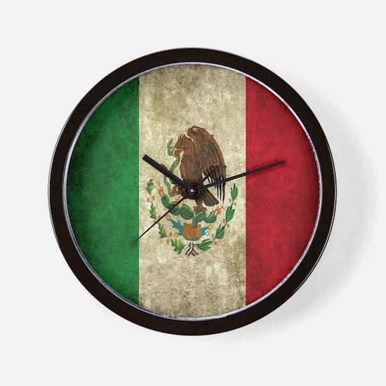 Mexican Flag Wall Clock