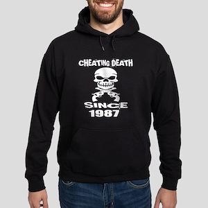 Cheating Death Since 1987 Birthday D Hoodie (dark)