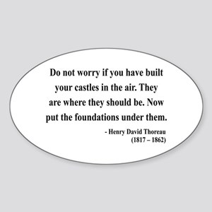 Henry David Thoreau 25 Oval Sticker