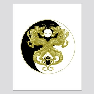 Yin Yang Dragons 5 Small Poster
