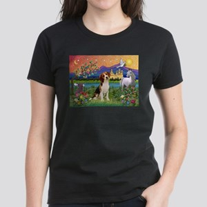 Fantasy Land & Beagle Women's Dark T-Shirt