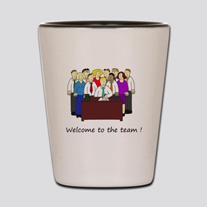 Welcome to our office team. Shot Glass