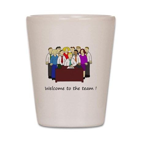 Welcome To Our Office Team Shot Glass By Listing Store