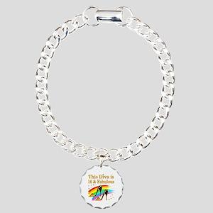 AWESOME 16TH Charm Bracelet, One Charm