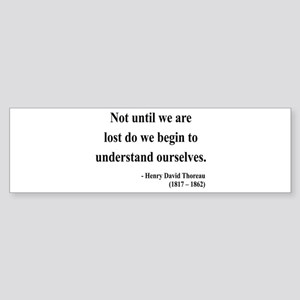 Henry David Thoreau 28 Bumper Sticker