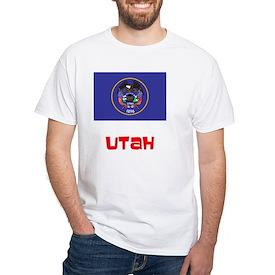Utah Flag Retro Red Design T-Shirt