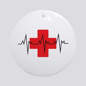 MEDICAL CROSS Ornament (Round)