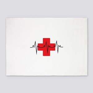 MEDICAL CROSS 5'x7'Area Rug