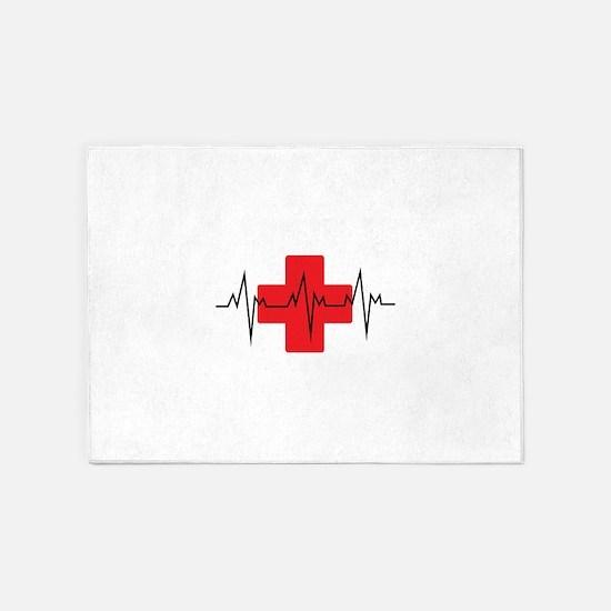 MEDICAL CROSS 5'x7'Area Rug
