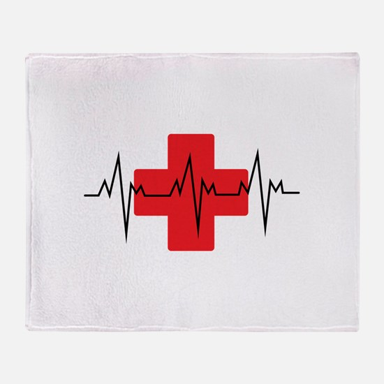 MEDICAL CROSS Throw Blanket