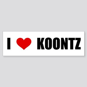 I Love Koontz Bumper Sticker