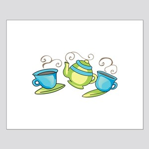 COFFEE POT AND CUPS Posters