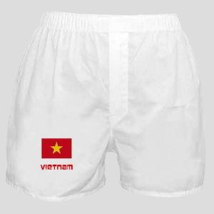 Vietnam Flag Retro Red Design Boxer Shorts